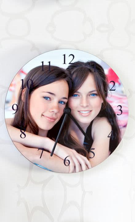 Fotoğraflı Duvar Saati